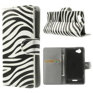 Peněženkové pouzdro na Sony Xperia L C2105 - zebrovité - 1