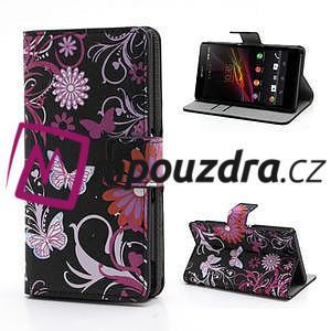 Peněženkové pouzdro na Sony Xperia Z C6603 - motýlci - 1