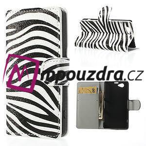 Peněženkové pouzdro na Sony Xperia Z1 Compact D5503 - zebrované - 1