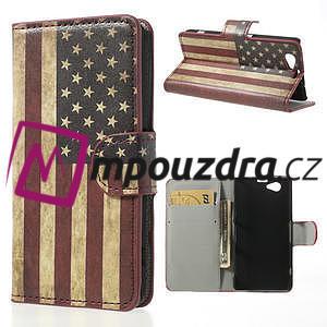 Peněženkové pouzdro na Sony Xperia Z1 Compact D5503 - USA vlajka - 1