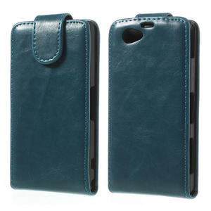 Flipové pouzdro na Sony Xperia Z1 Compact D5503- modré - 1