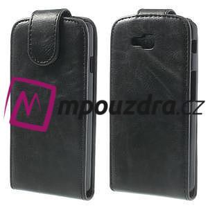 Flipové PU kožené pouzdro na LG Optimus L9 II D605 - černé - 1