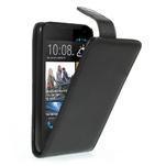 Flipové Cover PU kožené pouzdro na HTC Desire 310- černé - 1/6