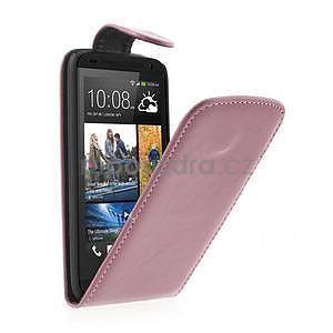 Flipové pouzdro pro HTC Desire 601- růžové - 1