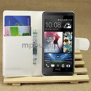 Peněženkové pouzdro pro HTC Desire 601- bílé - 1
