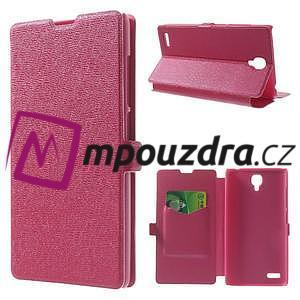 Peněženkové pouzdro na Xiaomi Hongmi Note- růžové - 1