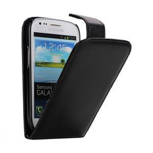 Flipové pouzdro pro Samsung Galaxy S3 mini i8190- černé - 1
