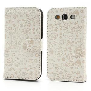 Peněženkové pouzdro na Samsung Galaxy S3 i9300- bílé - 1