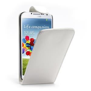 Flipové pouzdro pro Samsung Galaxy S4 i9500- bílé - 1