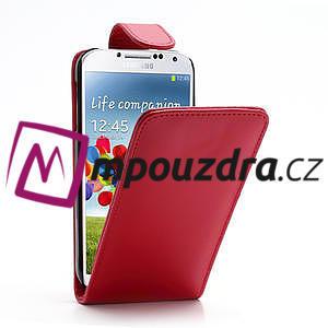 Flipové pouzdro pro Samsung Galaxy S4 i9500- červené - 1