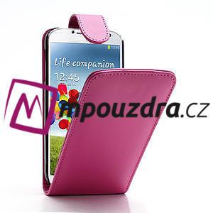 Flipové pouzdro pro Samsung Galaxy S4 i9500- růžové - 1