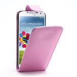 Flipové pouzdro pro Samsung Galaxy S4 i9500- světle-růžové - 1/5