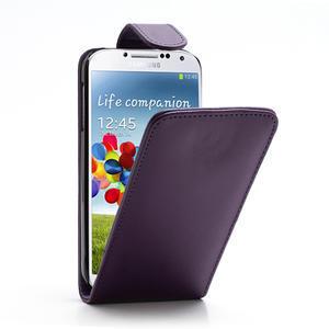 Flipové pouzdro pro Samsung Galaxy S4 i9500-fialové - 1