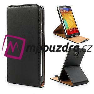 Flipové PU kožené pouzdro na Samsung Galaxy Note 3- černé - 1