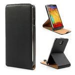 Flipové PU kožené pouzdro na Samsung Galaxy Note 3- černé - 1/7