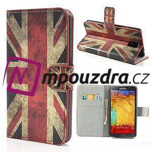 Peněženkové pouzdro na Samsung  Galaxy Note 3- UK vlajka - 1
