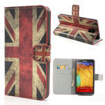 Peněženkové pouzdro na Samsung  Galaxy Note 3- UK vlajka - 1/7
