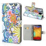 Peněženkové pouzdro na Samsung Galaxy Note 3- barevné květy - 1/7