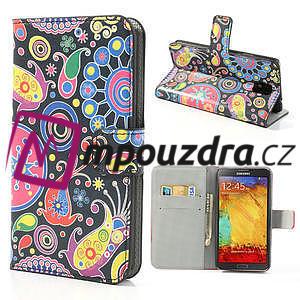 Peněženkové pouzdro na Samsung Galaxy Note 3- vzory - 1