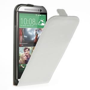 Flipové pouzdro pro HTC one M8- bílé - 1