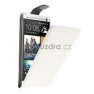 Flipové pouzdro HTC one Max- bílé - 1