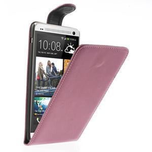 Flipové pouzdro HTC one Max- růžové - 1