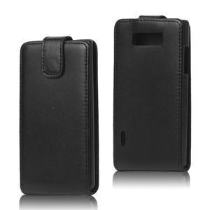 Flipové pouzdro na LG Optimus L7 P700 - černé - 1