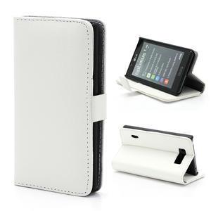 Peněženkové pouzdro na LG Optimus L7 P700 - bílé - 1