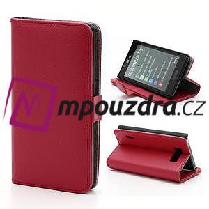 Peněženkové pouzdro na LG Optimus L7 P700 - červené - 1