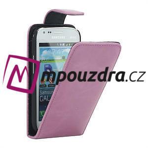 Flipové pouzdro pro Samsung Trend plus, S duos -růžové - 1