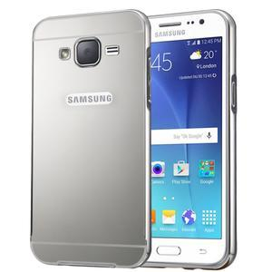 Odolný obal s kovovým obvodem na Samsung Galaxy J5 (2016) - stříbrný - 1