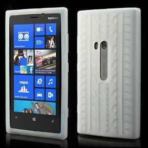 Silokonové PNEU pouzdro na Nokia Lumia 920- bílé - 1