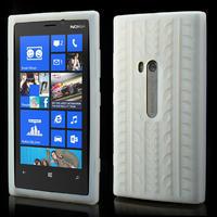Silokonové PNEU pouzdro na Nokia Lumia 920- bílé - 1/5