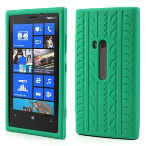 Silokonové PNEU pouzdro na Nokia Lumia 920- zelené - 1
