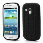 Silikonové PNEU pro Samsung Galaxy S3 mini i8190- černé - 1/5