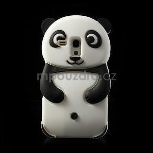 3D Silikonové pouzdro pro Samsung Galaxy S3 mini / i8190 - vzor černá panda - 1