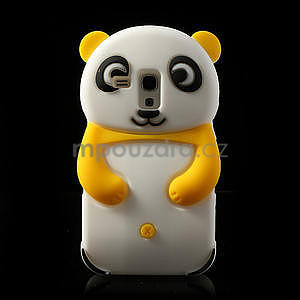 3D Silikonové pouzdro pro Samsung Galaxy S3 mini / i8190 - vzor žlutá panda - 1