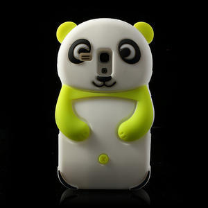 3D Silikonové pouzdro pro Samsung Galaxy S3 mini / i8190 - vzor zelená panda - 1