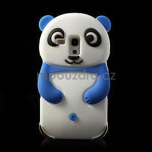 3D Silikonové pouzdro pro Samsung Galaxy S3 mini / i8190 - vzor modrá panda - 1