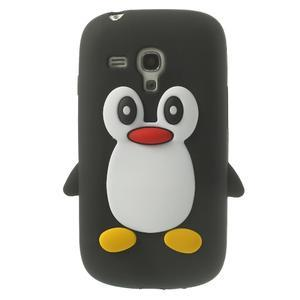 Silikonový TUČŃÁK pouzdro na Samsung Galaxy S3 mini i8190- černý - 1