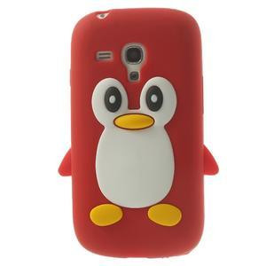 Silikonový TUČŃÁK pouzdro na Samsung Galaxy S3 mini i8190- červený - 1