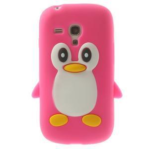 Silikonový TUČŃÁK pouzdro na Samsung Galaxy S3 mini i8190- růžový - 1