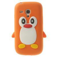 Silikonový TUČŃÁK pouzdro na Samsung Galaxy S3 mini i8190- oranžový - 1/7