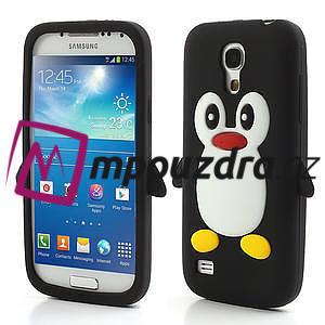 Silikon 3D TUČŇÁK pro Samsung Galaxy S4 mini i9190- černý - 1