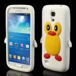 Silikon 3D TUČŇÁK pro Samsung Galaxy S4 mini i9190- bílý - 1/5