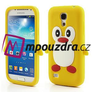 Silikon 3D TUČŇÁK pro Samsung Galaxy S4 mini i9190- žlutý - 1