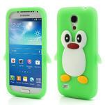Silikon 3D TUČŇÁK pro Samsung Galaxy S4 mini i9190- zelený - 1/5