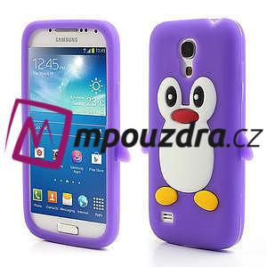 Silikon 3D TUČŇÁK pro Samsung Galaxy S4 mini i9190- fialový - 1