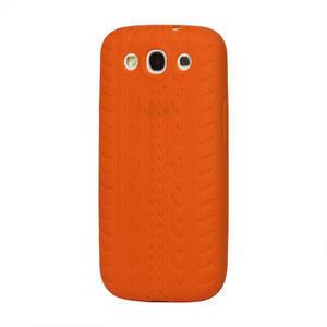 Silikonové PNEU pozdro pro Samsung Galaxy S3 i9300 - oranžové - 1