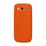 Silikonové PNEU pozdro pro Samsung Galaxy S3 i9300 - oranžové - 1/2